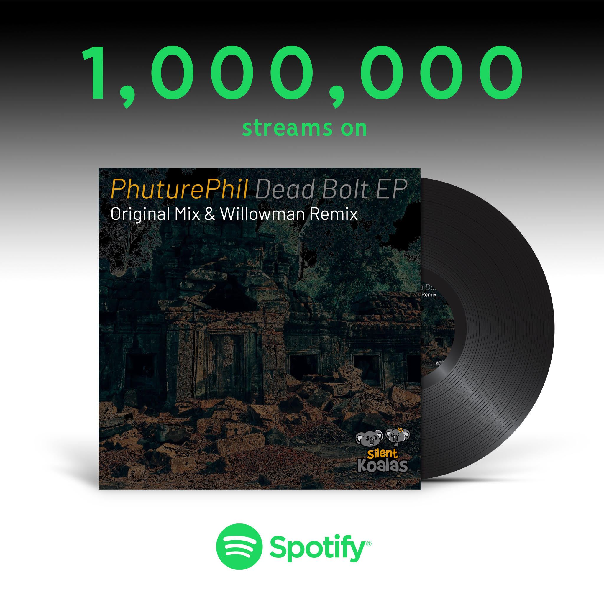 PhuturePhil- Dead Bolt 1 Million Streams on Spotify