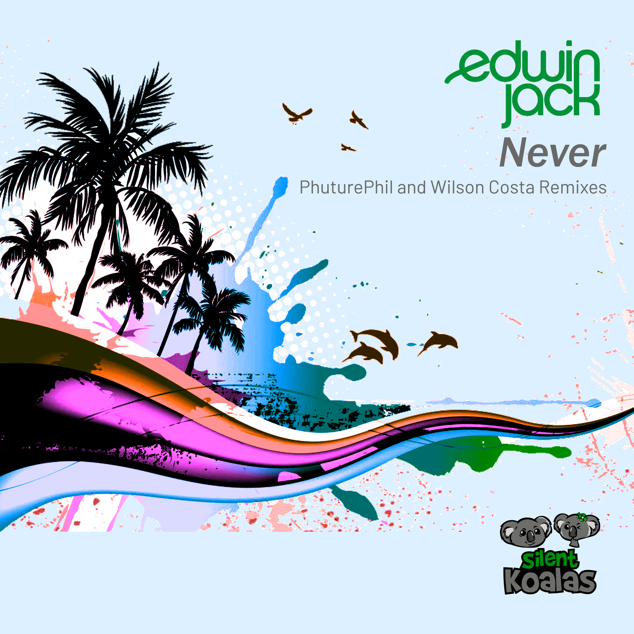 Bright and summery cover artwork for the Edwin Jack Remixes EP